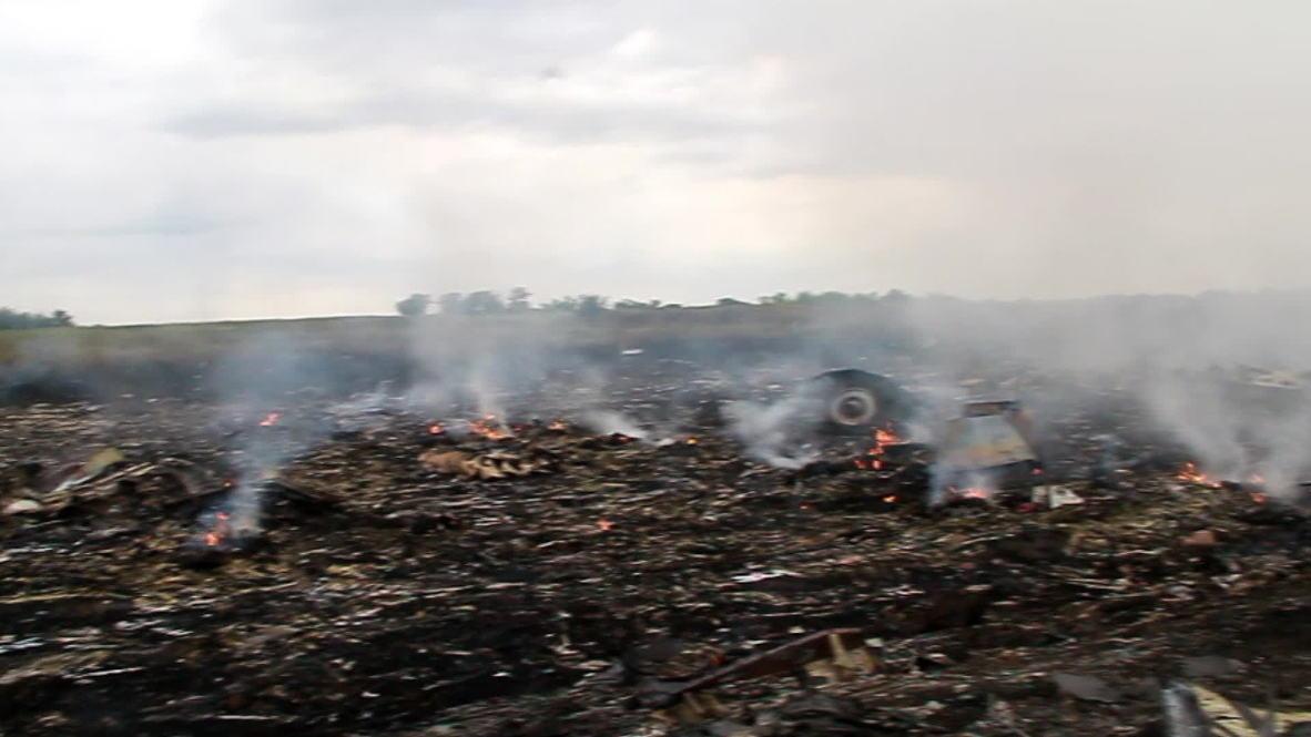 Ukraine: *GRAPHIC*  MH17 crash site- charred bodies lie among burning debris