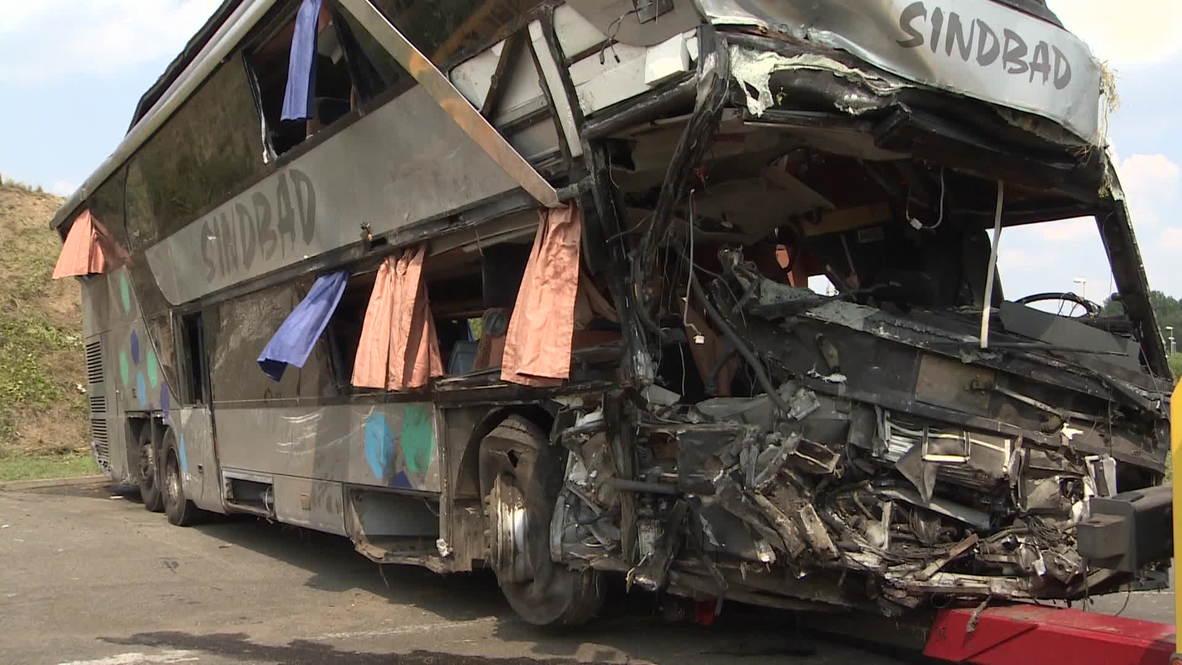 Germany: Horror bus crash kills nine, injures 43