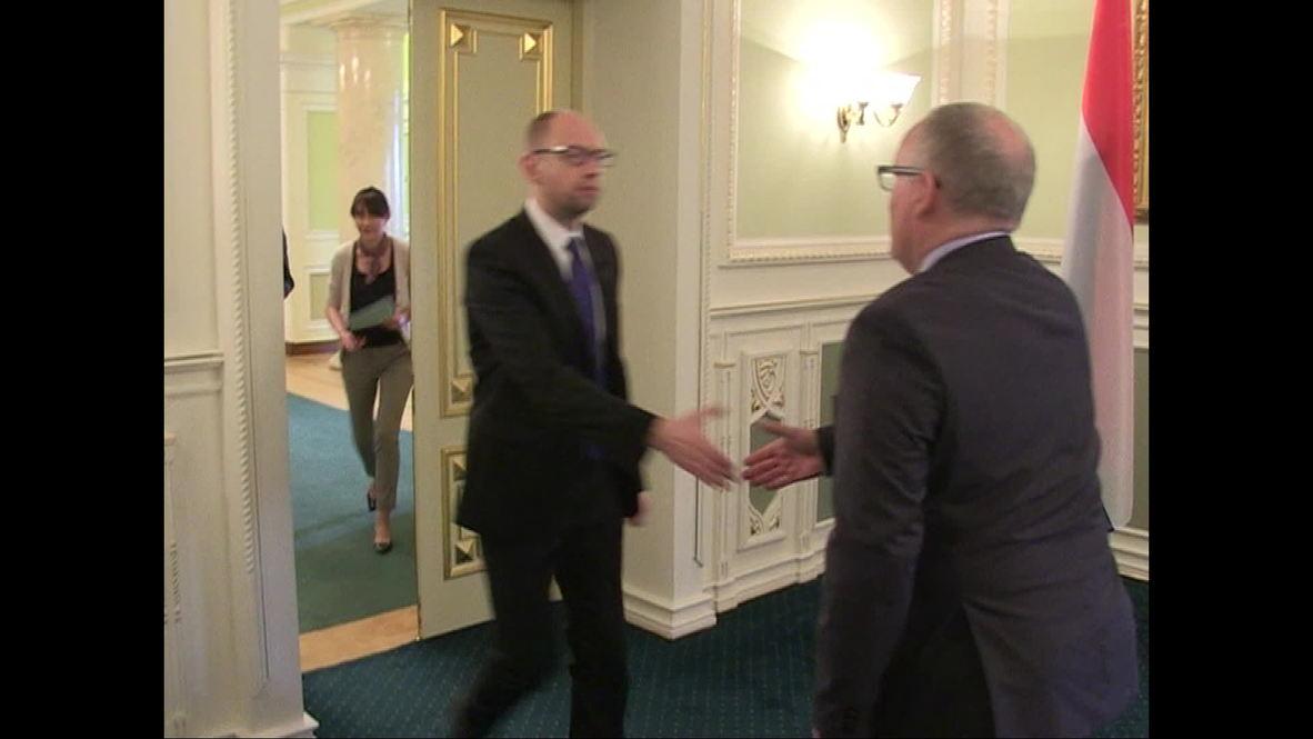 Ukraine: Yatsenuk expresses his condolences to Dutch FM