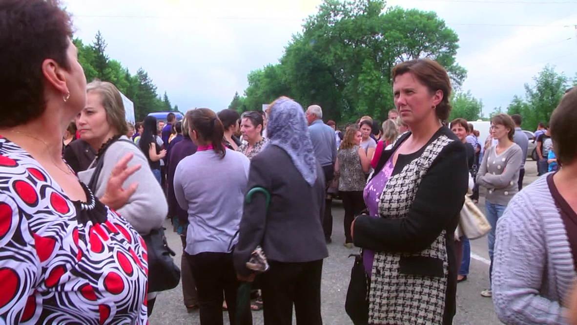 Ukraine: Women across Transcarpathia protest against partial mobilization