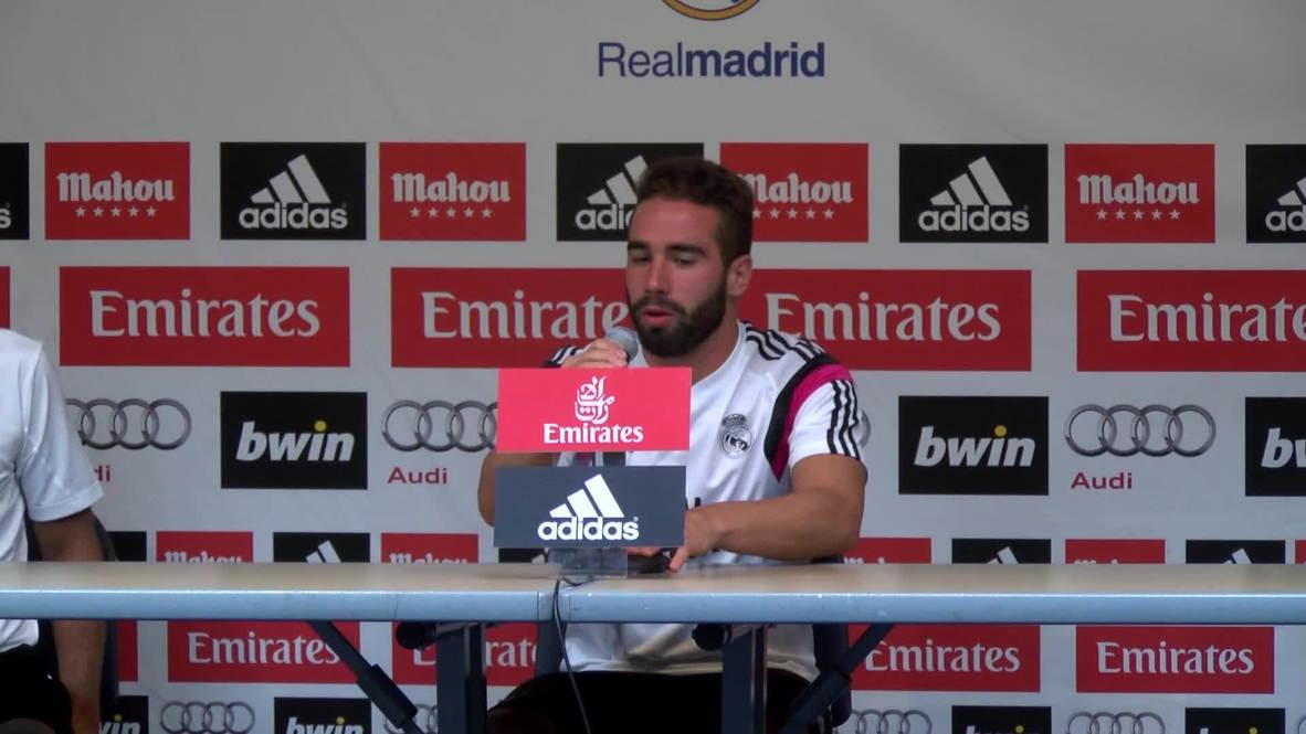 USA: Daniel Carvajal looks ahead to Madrid-Sevilla Super Cup