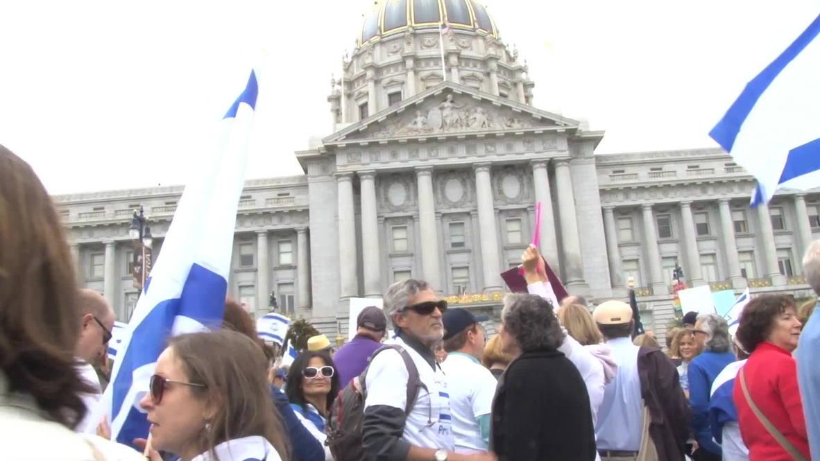 USA: Biggest pro-Israel rally yet kicks off in San Francisco