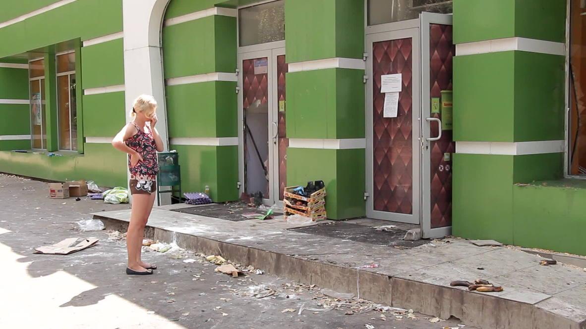 Ukraine: Shakhtersk shelling guts local supermarkets