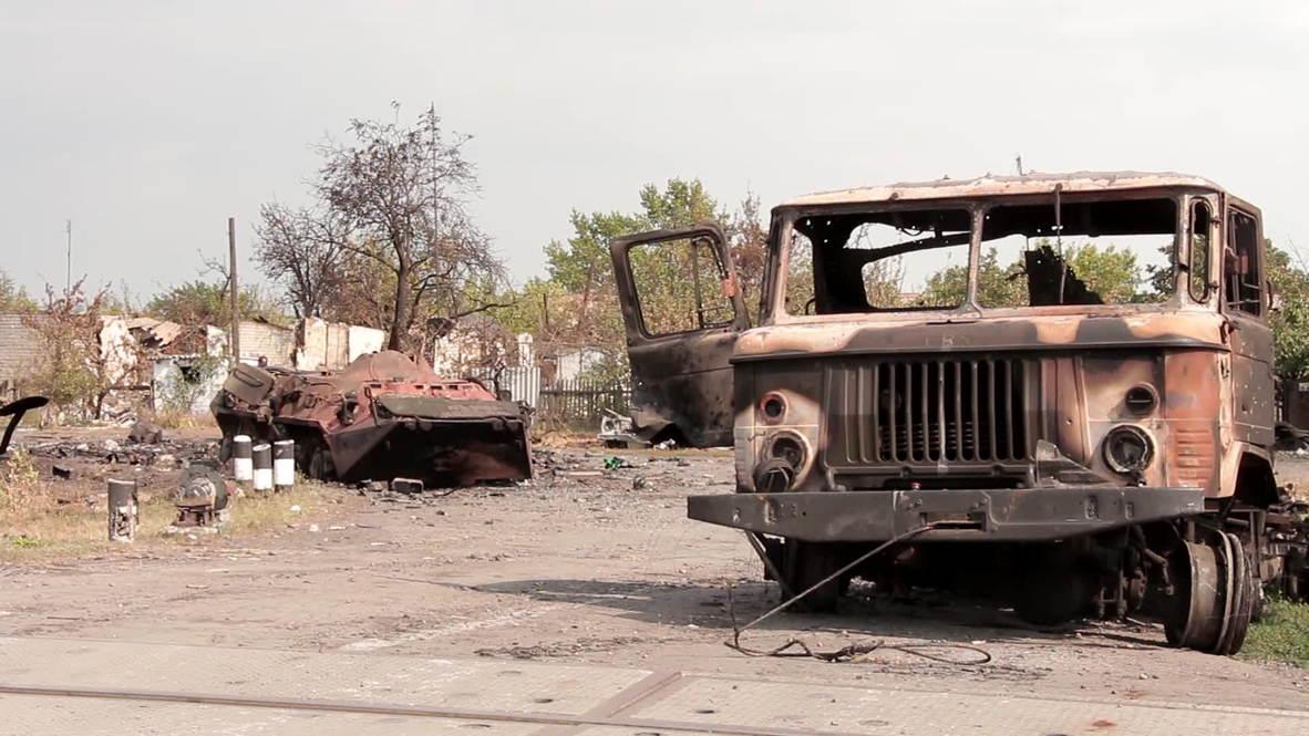 Ukraine: Destroyed armoured column abandoned in 'southern cauldron'