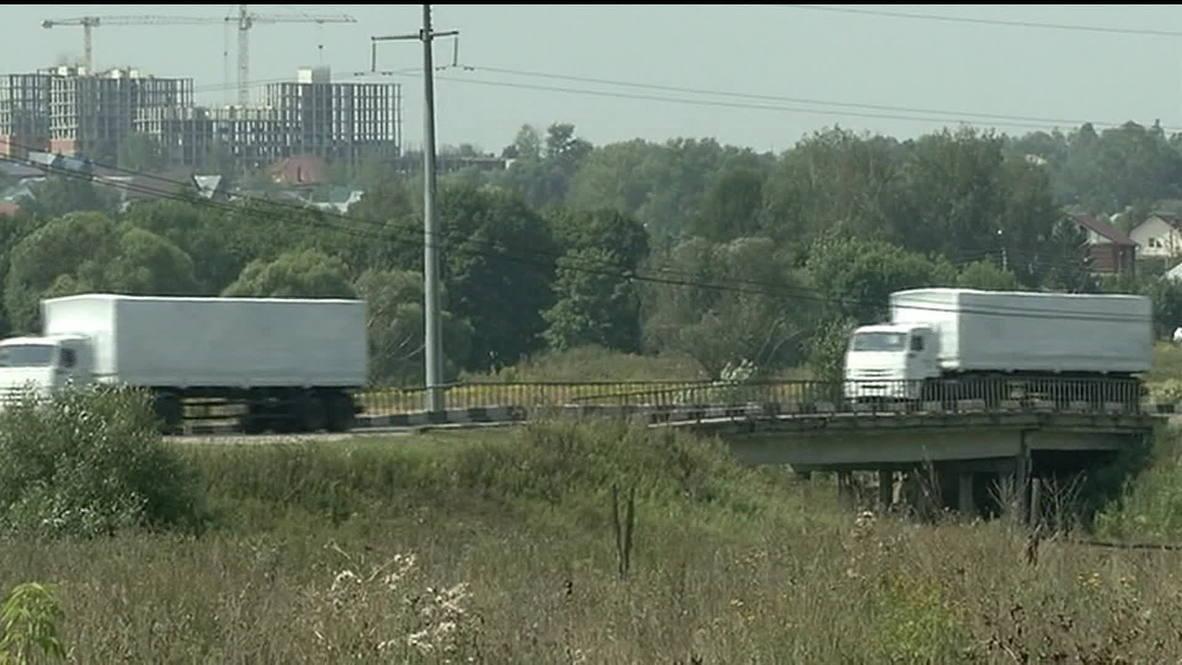 Russia: Humanitarian aid convoy deployed to East Ukraine *POOL*