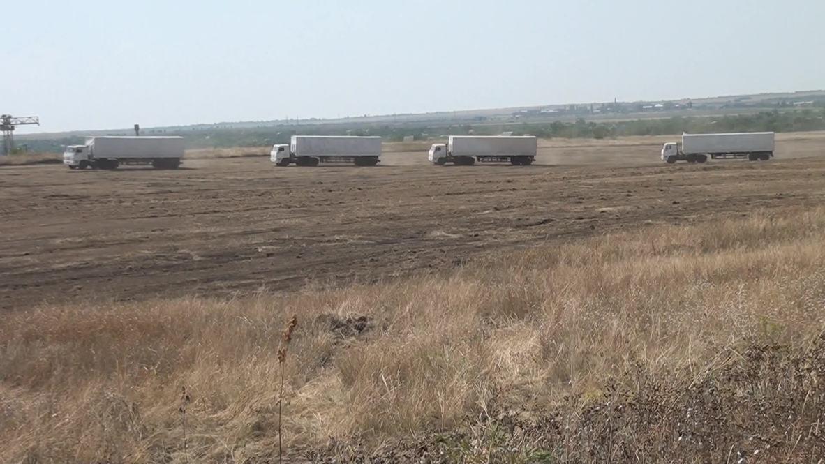 Russia: Aid convoy halts 30 km from Ukraine border
