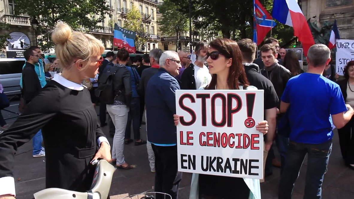 France: Parisians demand end to 'genocide in Ukraine'