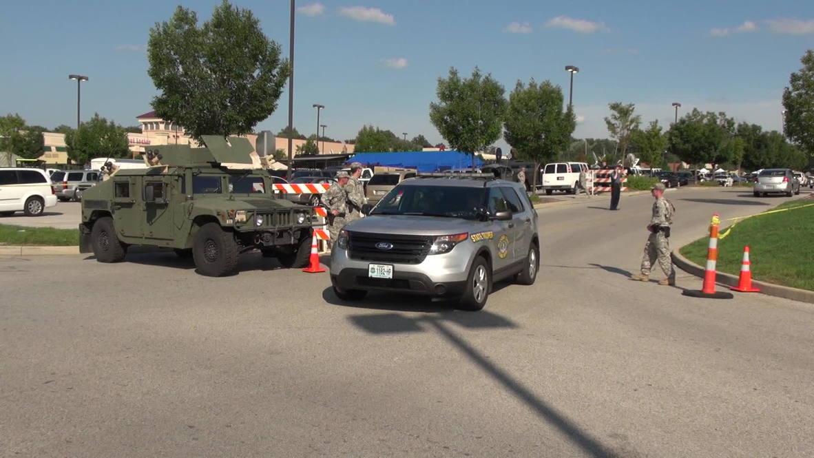 USA: National Guard puts Ferguson streets on lockdown