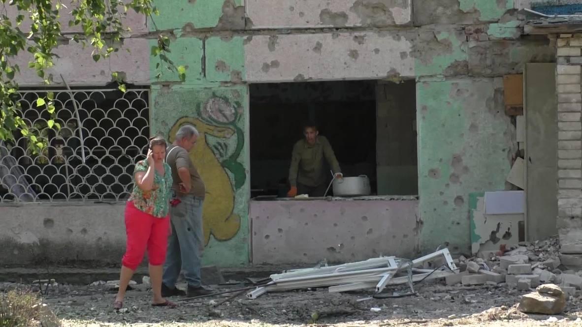 Ukraine: Kindergarten blown out by Ukrainian army shelling