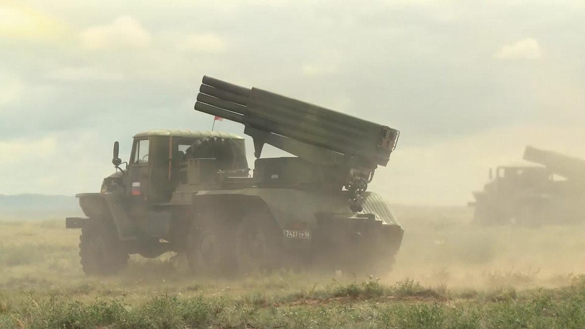 China: Watch Russian artillery unleash their firepower