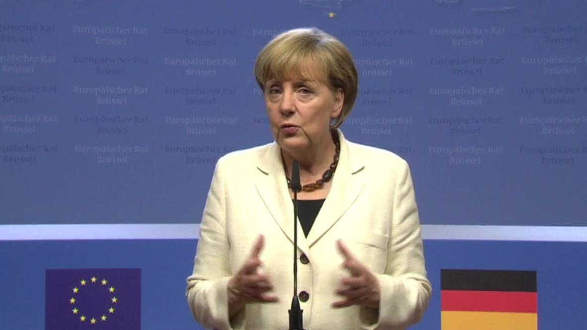 Belgium: Merkel praises new European Council President Donald Tusk *pool*