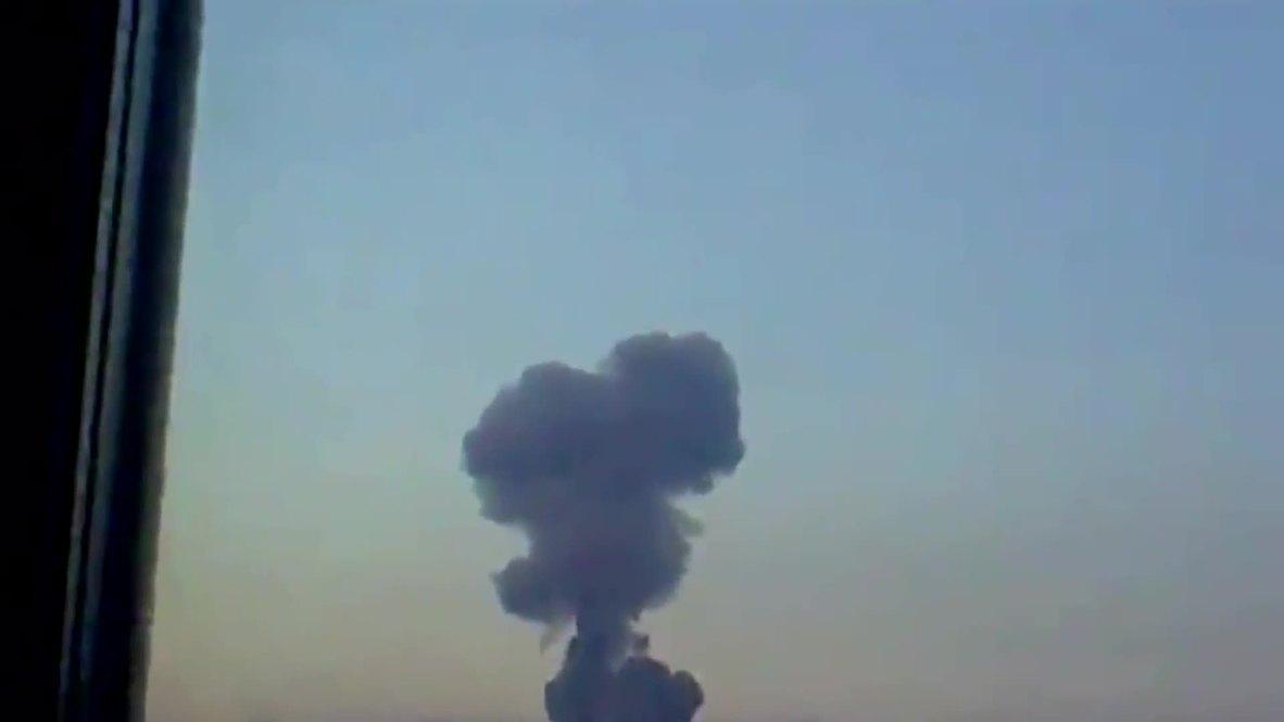 Ukraine: Smoke rises over Donetsk after oil refinery shelling