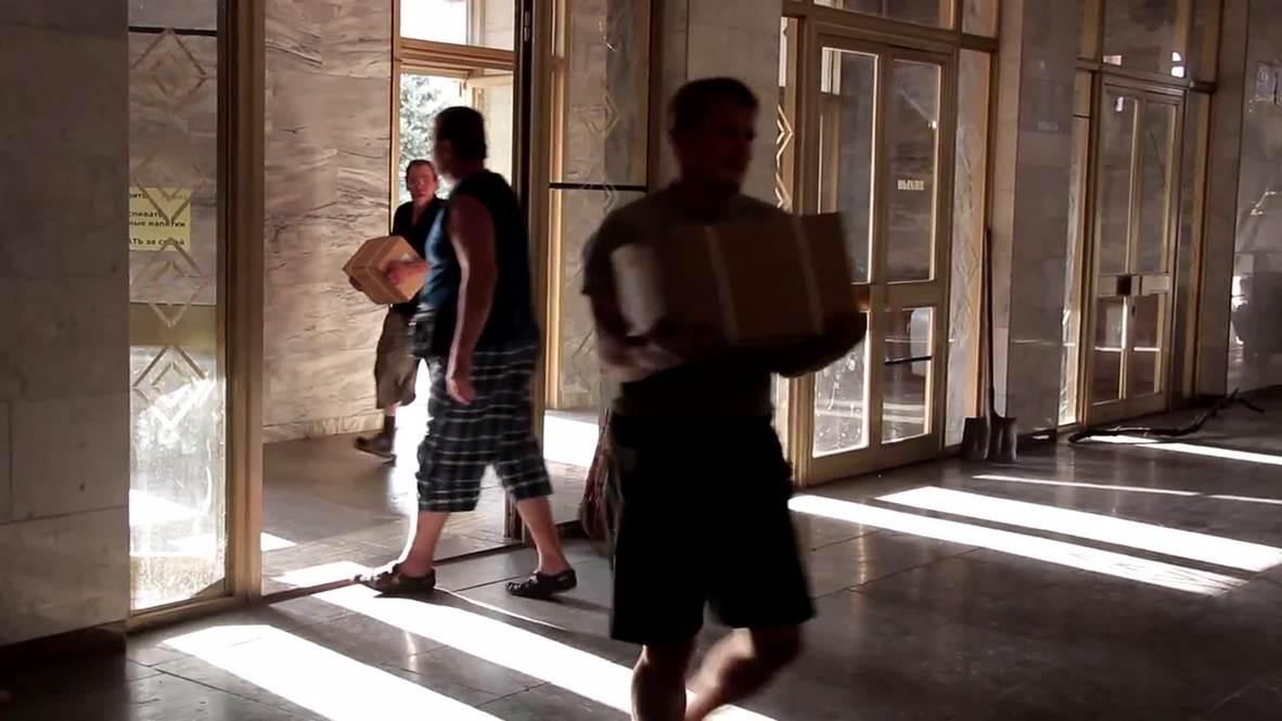 Ukraine: Aid from Novorossiya govt arrives in Ilovaysk
