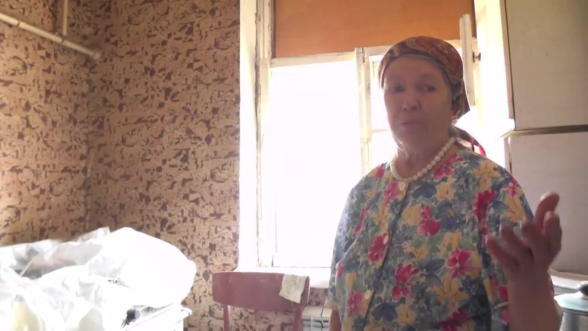 Ukraine: Donetsk homes left devastated by shelling