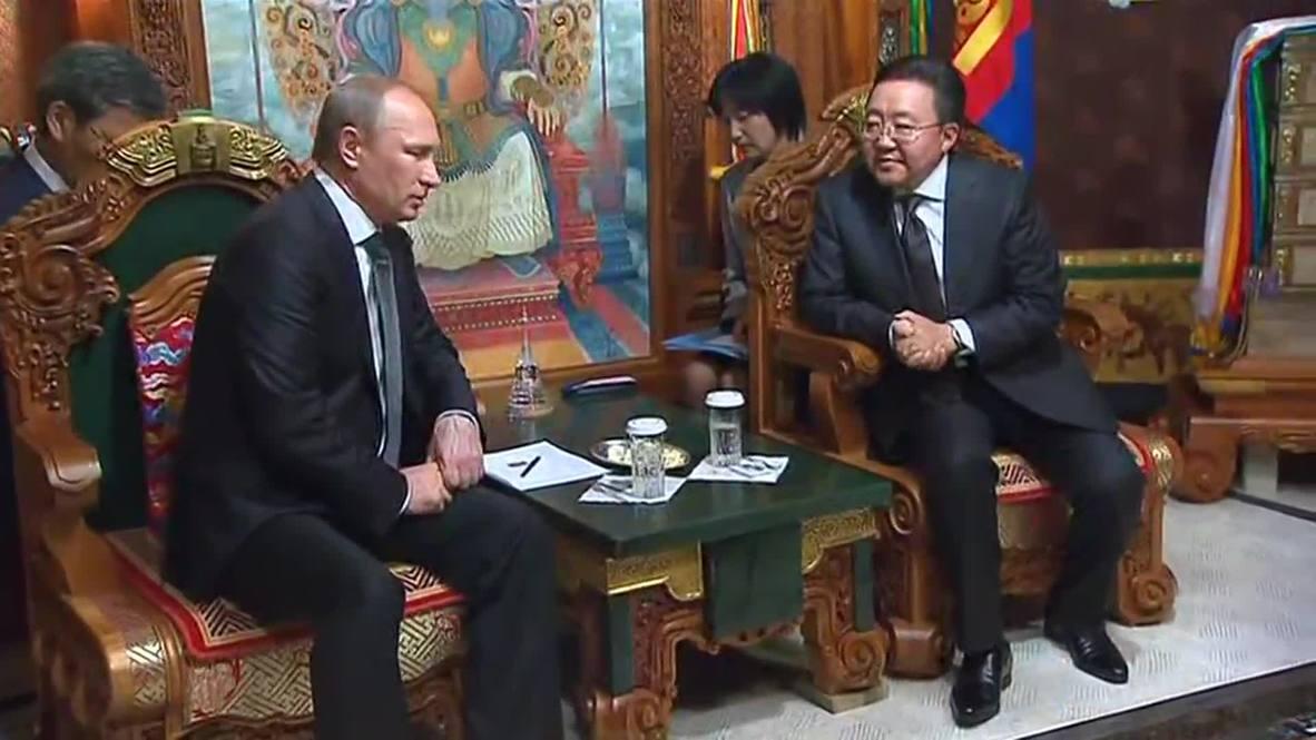 Mongolia: Putin tightens historical bonds as he meet Mongolia's Elbegdorj