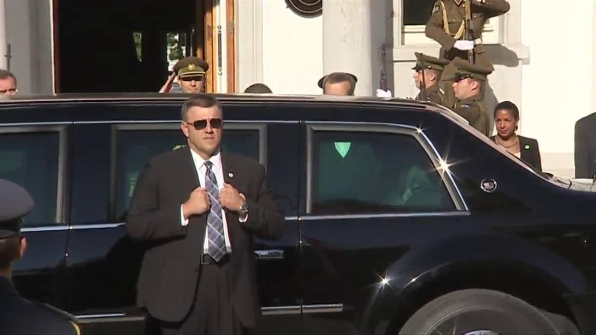 Estonia: Obama meets presidents of Estonia, Latvia, Lithuania to talk NATO