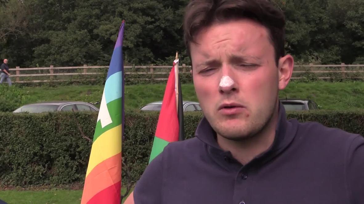 UK: Anti-NATO protesters occupy Newport park