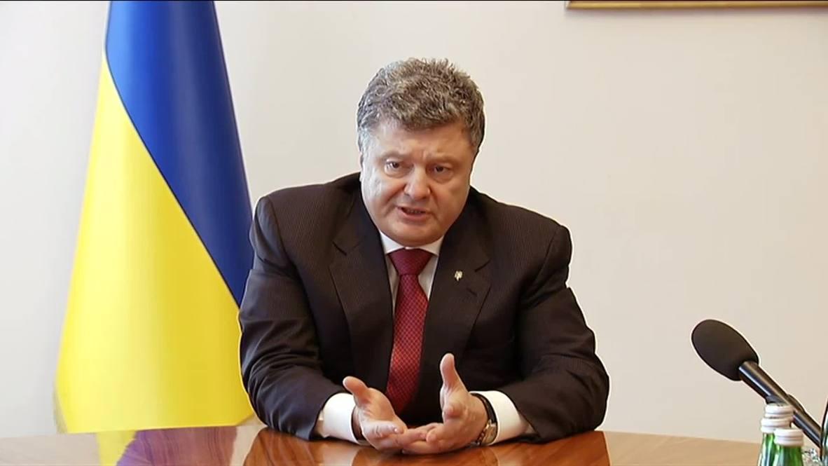 "Ukraine: ""Barbarism in Lugansk and Donetsk must stop"" says Poroshenko"