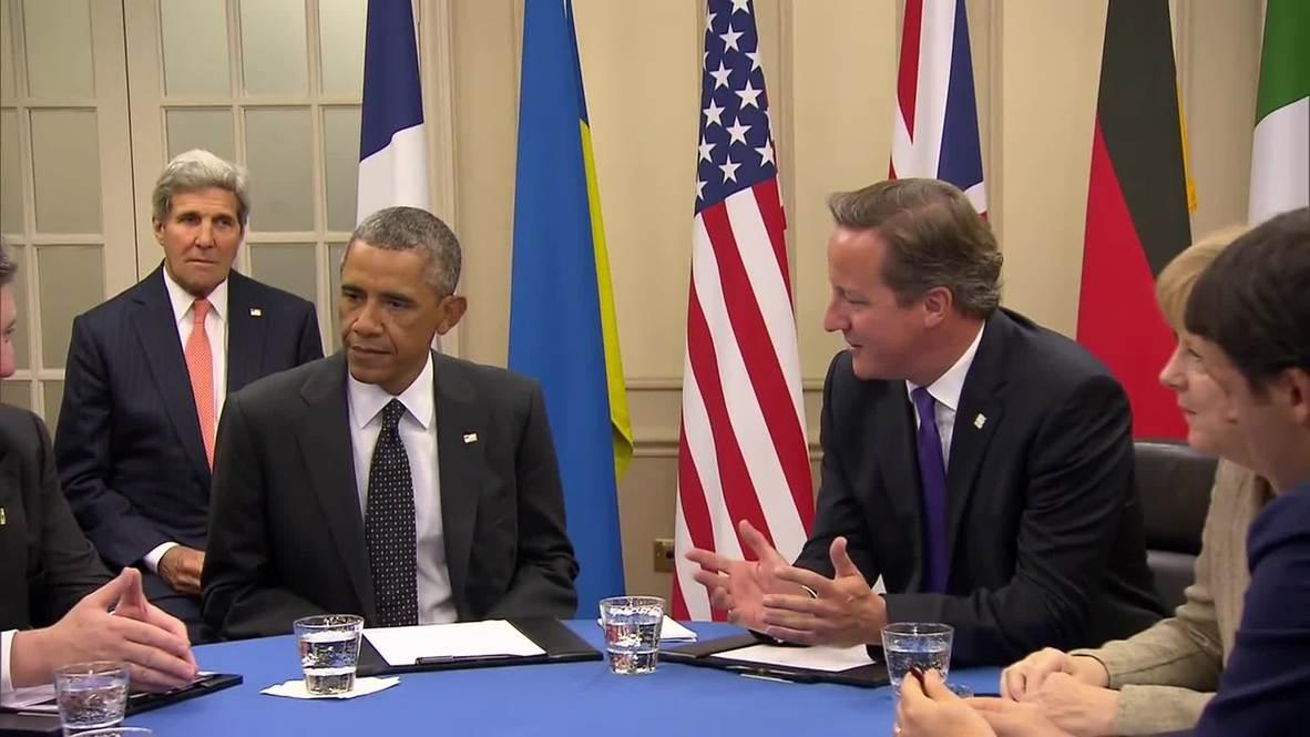 UK: Poroshenko, Obama, Cameron meet at NATO summit