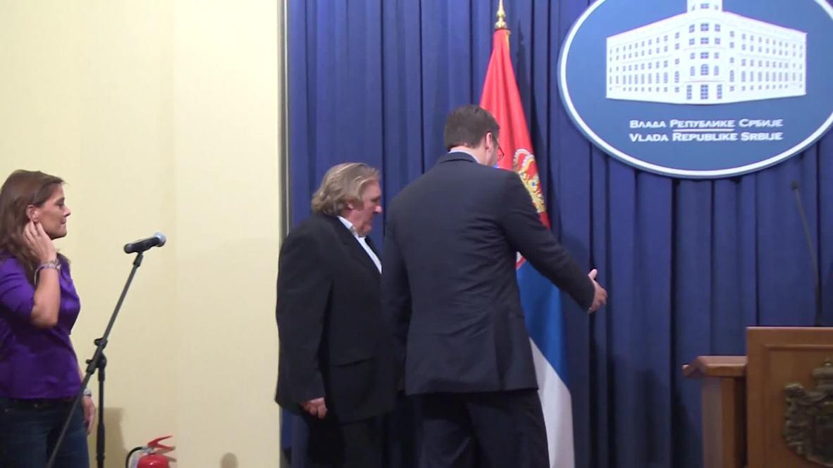 "Serbia: ""Putin is humane, doesn't want war in Ukraine"" says Depardieu"