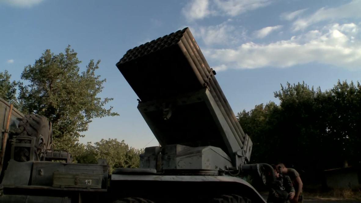 Ukraine: Watch journalist witness full force of Grad missiles in Donetsk