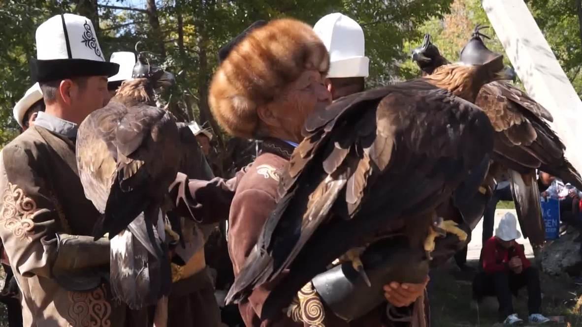 Kyrgyzstan: Watch falcons flaunt their skills at bird of prey festival