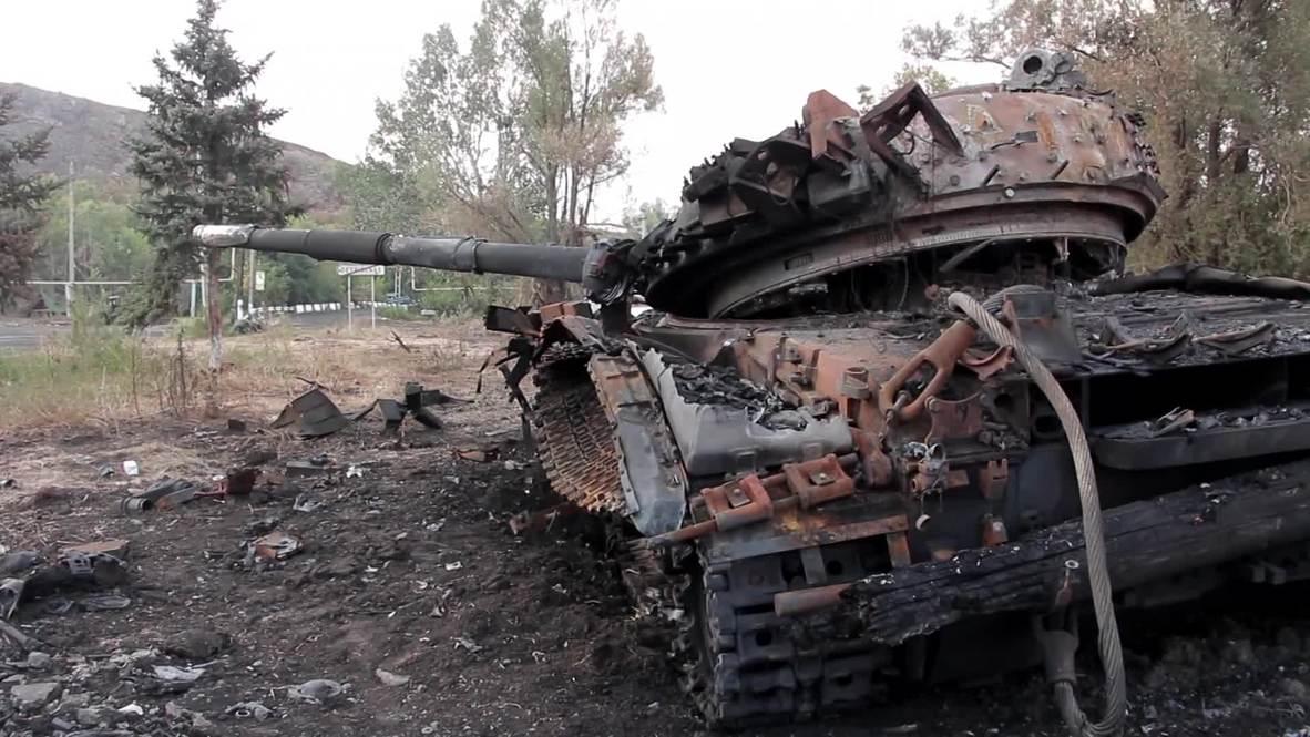 Ukraine: First look at Petrovskoye's decimation after Kiev's troops retreat