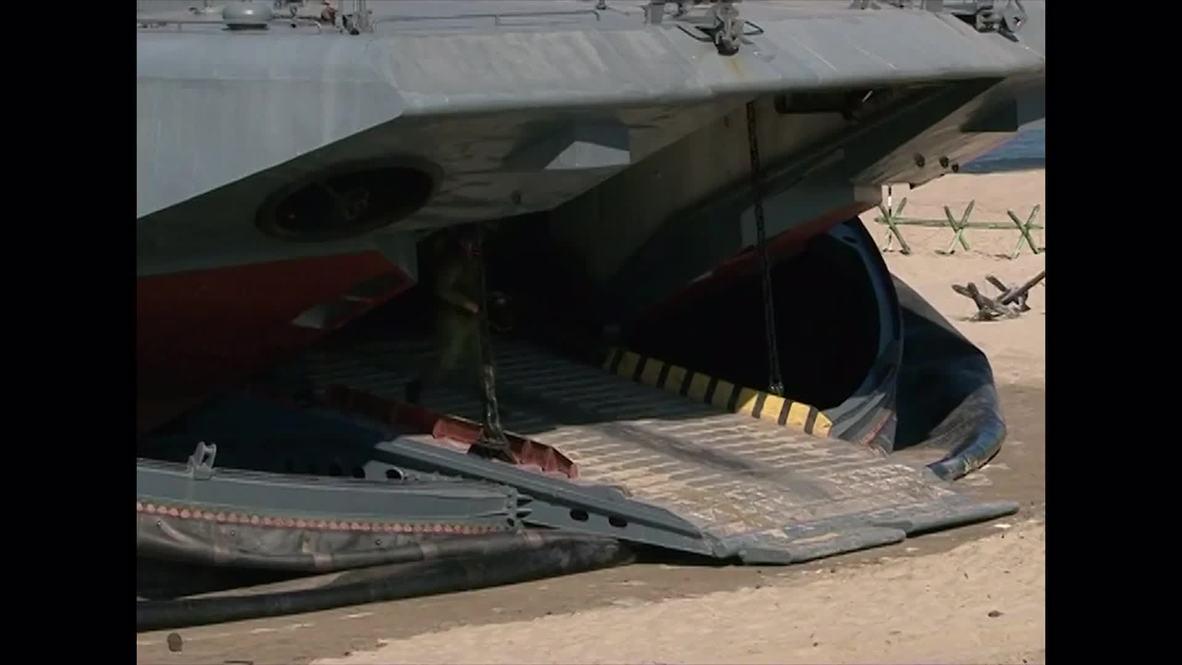 Russia: See Baltic Fleet storm beach in massive military drills