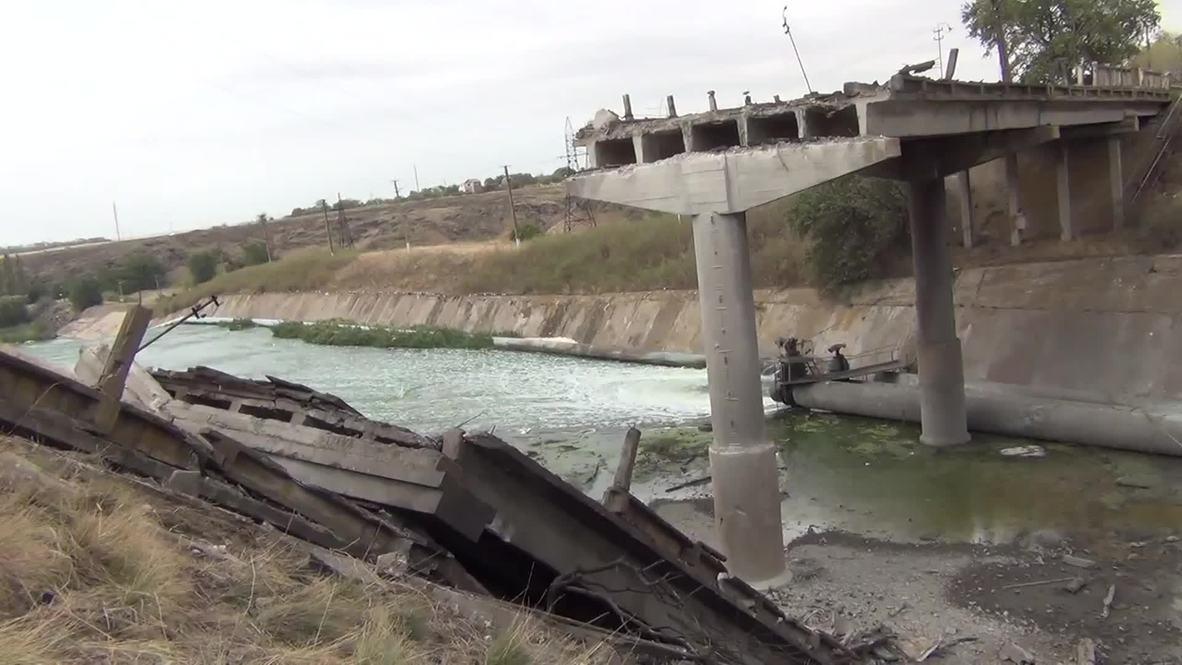 Ukraine: Bridge blown up outside Mariupol