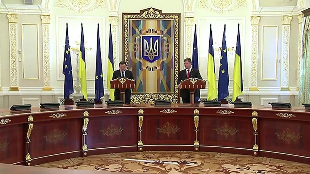 "Ukraine: ""EU-Ukraine Association Agreement to come into force on November 1,"" says Poroshenko"