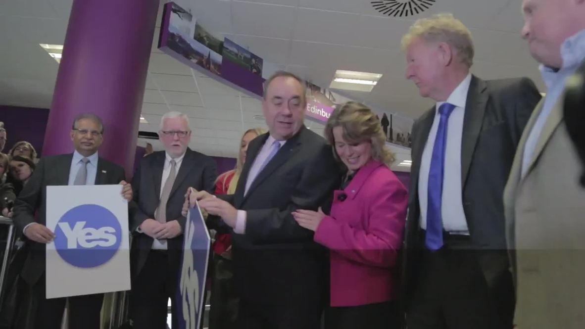 "UK: Salmond denounces ""fear mongering"" on campaign trail"