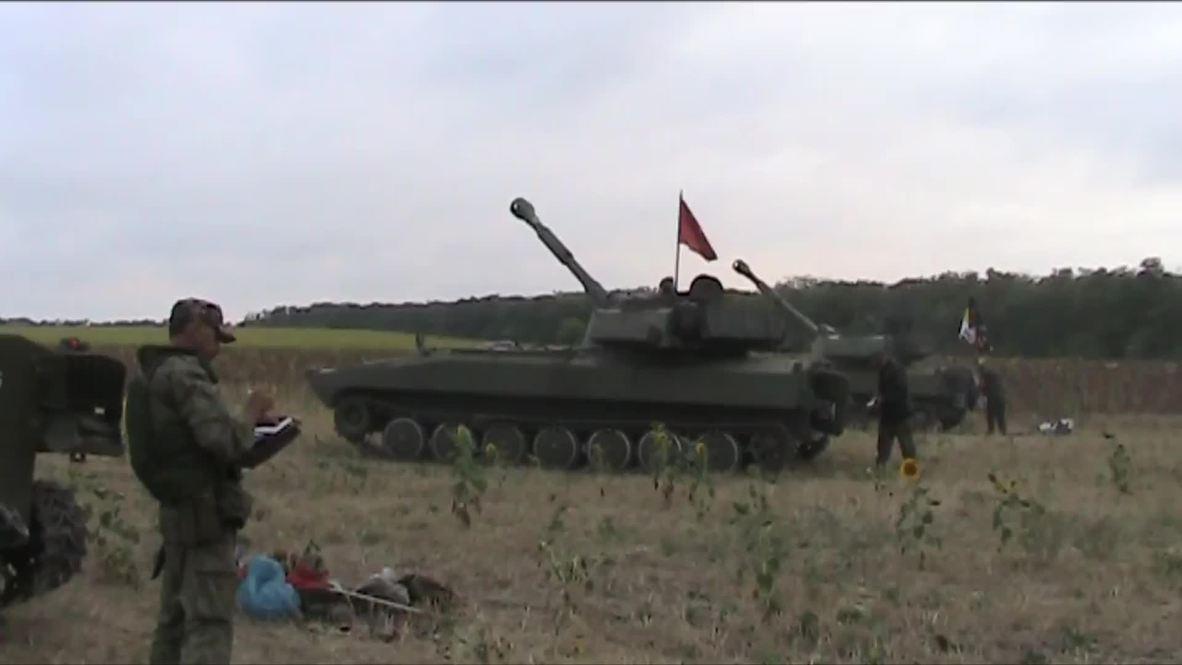 Ukraine: See DPR fire self-propelled artillery shots