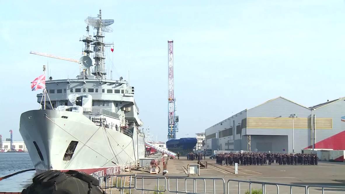 France: Russian sailors return to Smolny frigate after training on Mistral-class Vladivostok