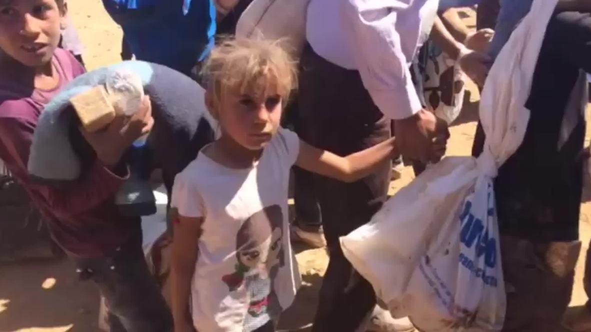 Turkey: Kurdish children flee U.S airstrikes on Syria