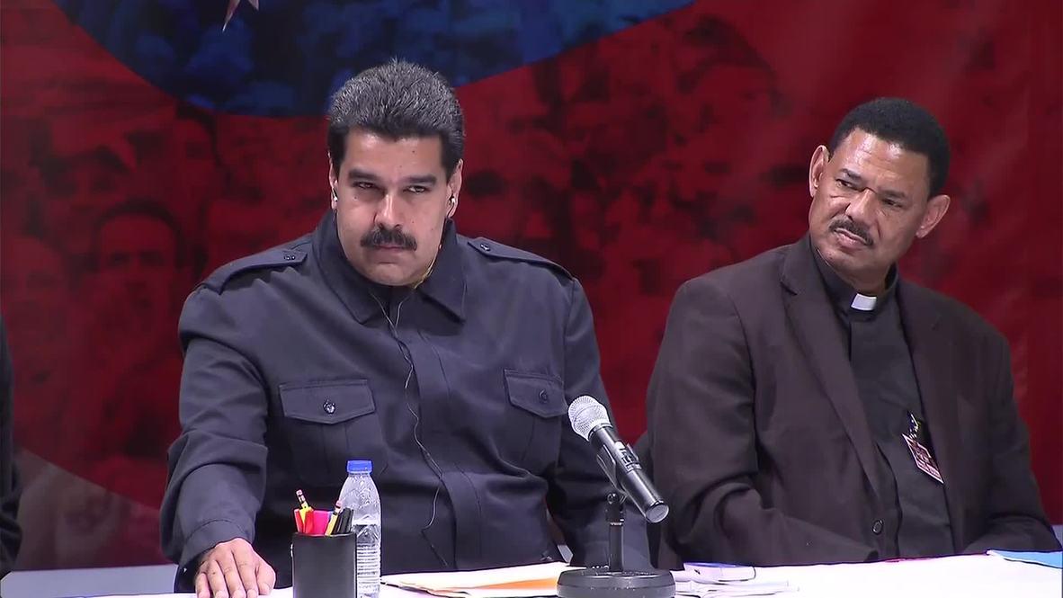 USA: Venezuela's Maduro visits the Bronx, meets local community leaders