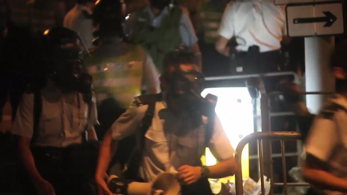 Hong Kong: Tear gas, pepper spray fired as clashes erupt