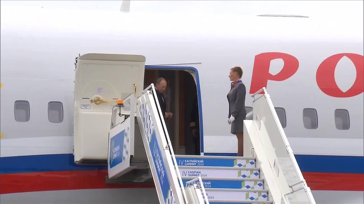 Russia: Putin delivers address to Caspian Summit 2014
