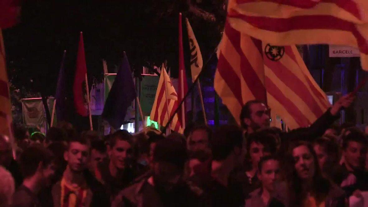 "Spain: ""Democracy here is FAKE!"" Barcelona demo decries indy ref suspension"