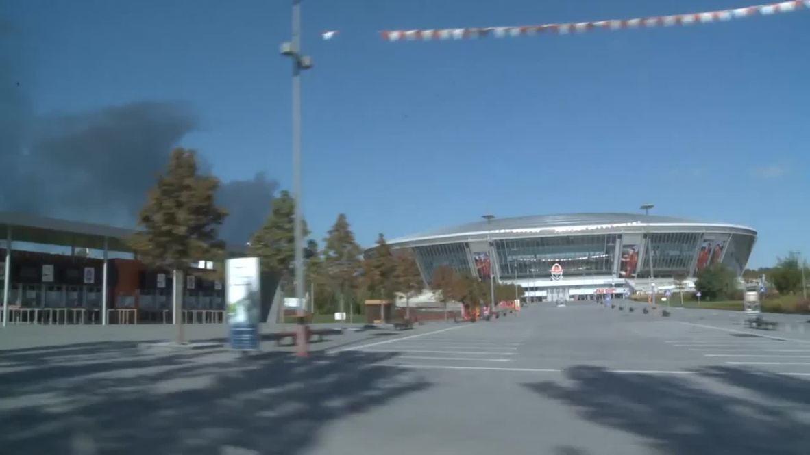 UKraine: See Donetsk airport fuel station ablaze amid fighting