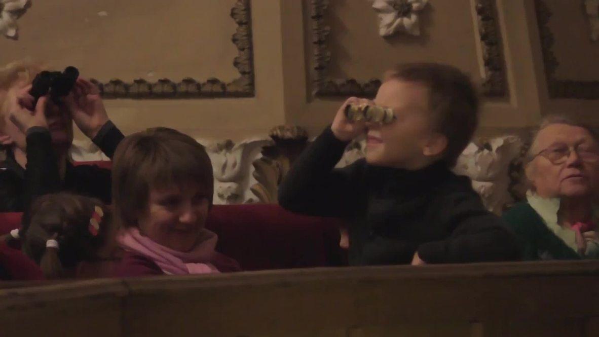 Ukraine: See Donbass Opera serenade KIDS amid ongoing shelling
