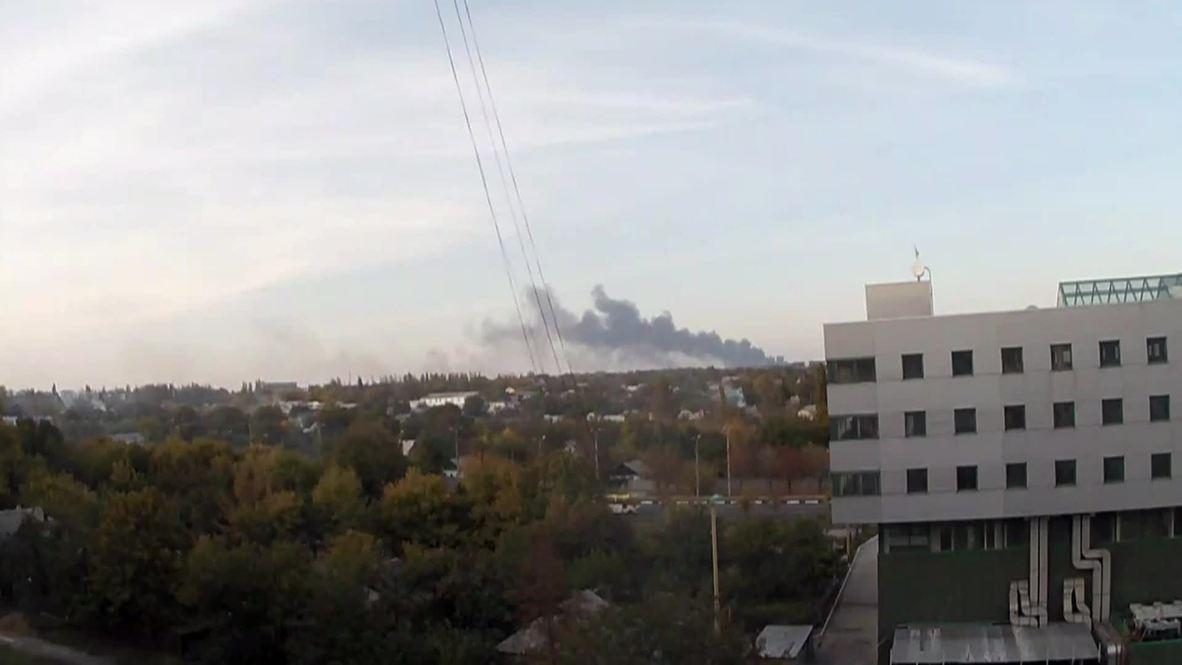 Ukraine: See heavy smoke rising over Donetsk airport
