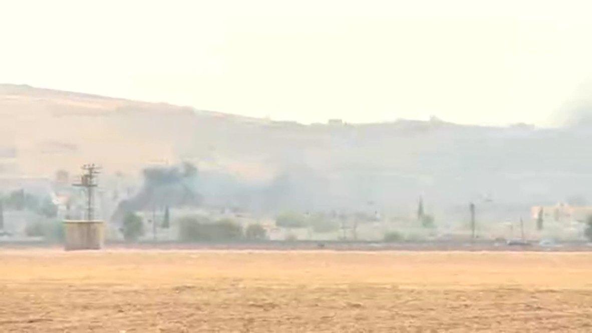 Turkey: Kobane burns after airstrikes target IS
