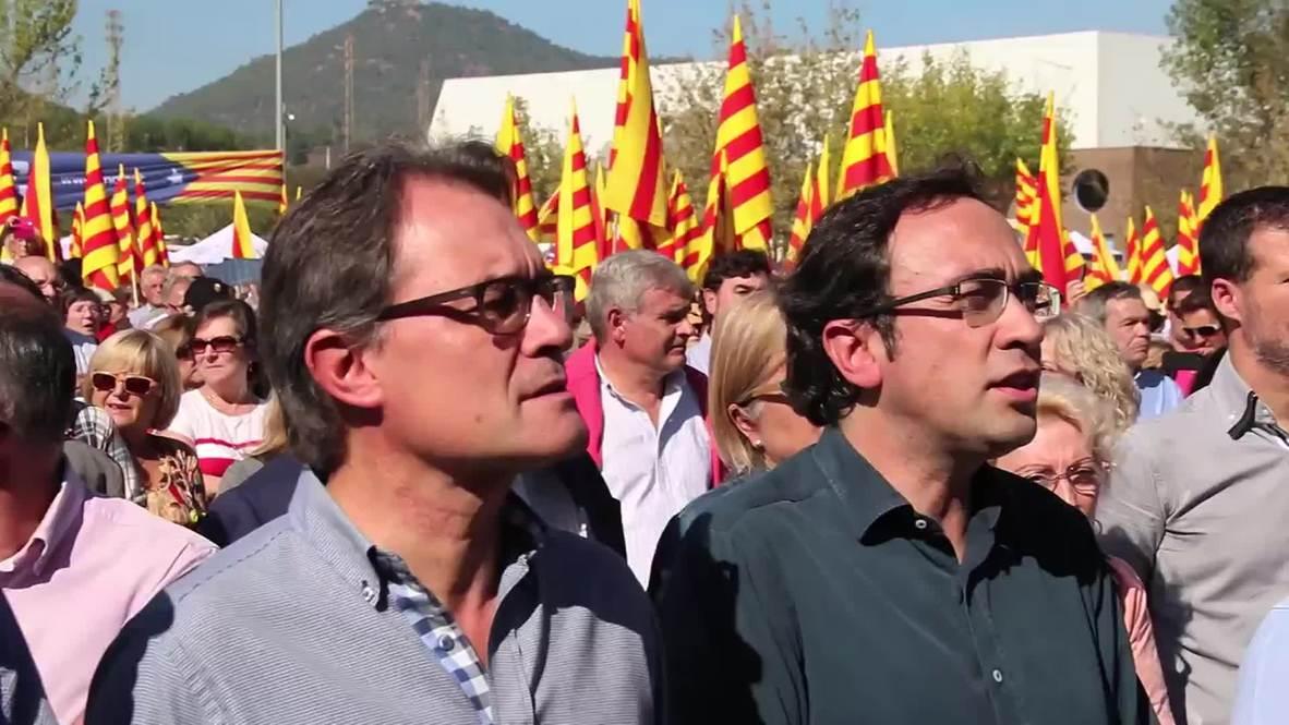 """Spain: """"A democratic Spain should act like UK"""" Artur Mas rallies indy ref fervour"""