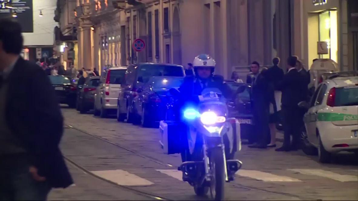 Italy: Dignitaries arrive for ASEM formal dinner, including Lavrov and Merkel