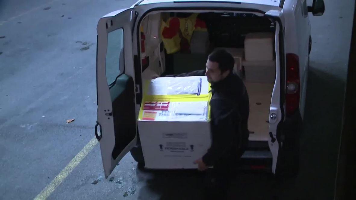 Switzerland: Experimental Ebola vaccine arrives in Geneva