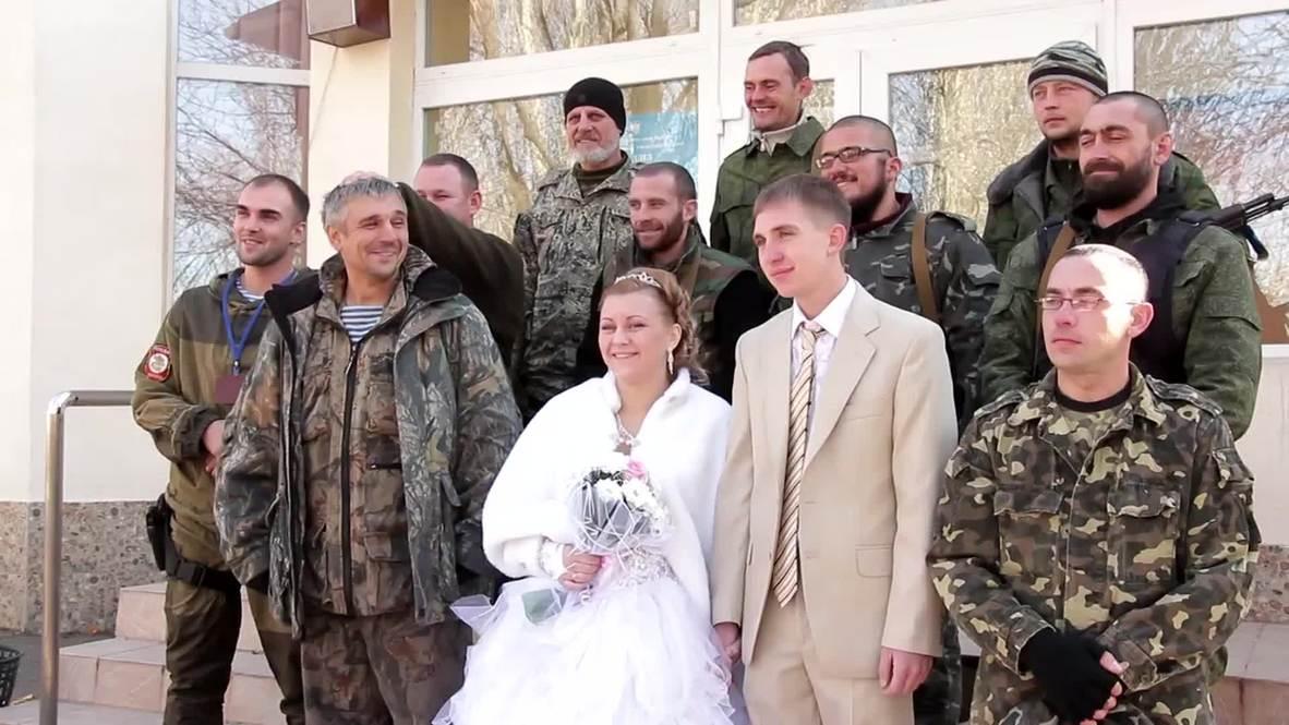 "Ukraine: Check out this ""shotgun wedding"" Donbass-style"
