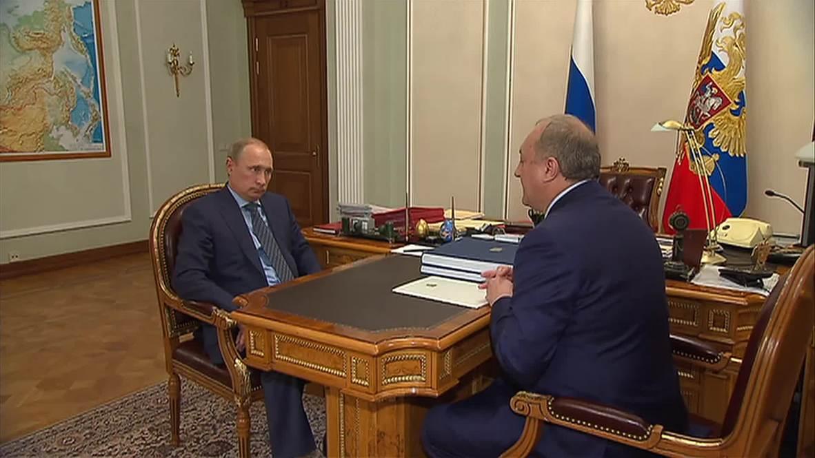 Russia: Putin meets Kamchatka governor, receives good economic news