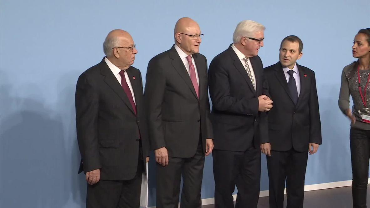Germany: Steinmeier, Salam stress danger of Syrian refugee issue