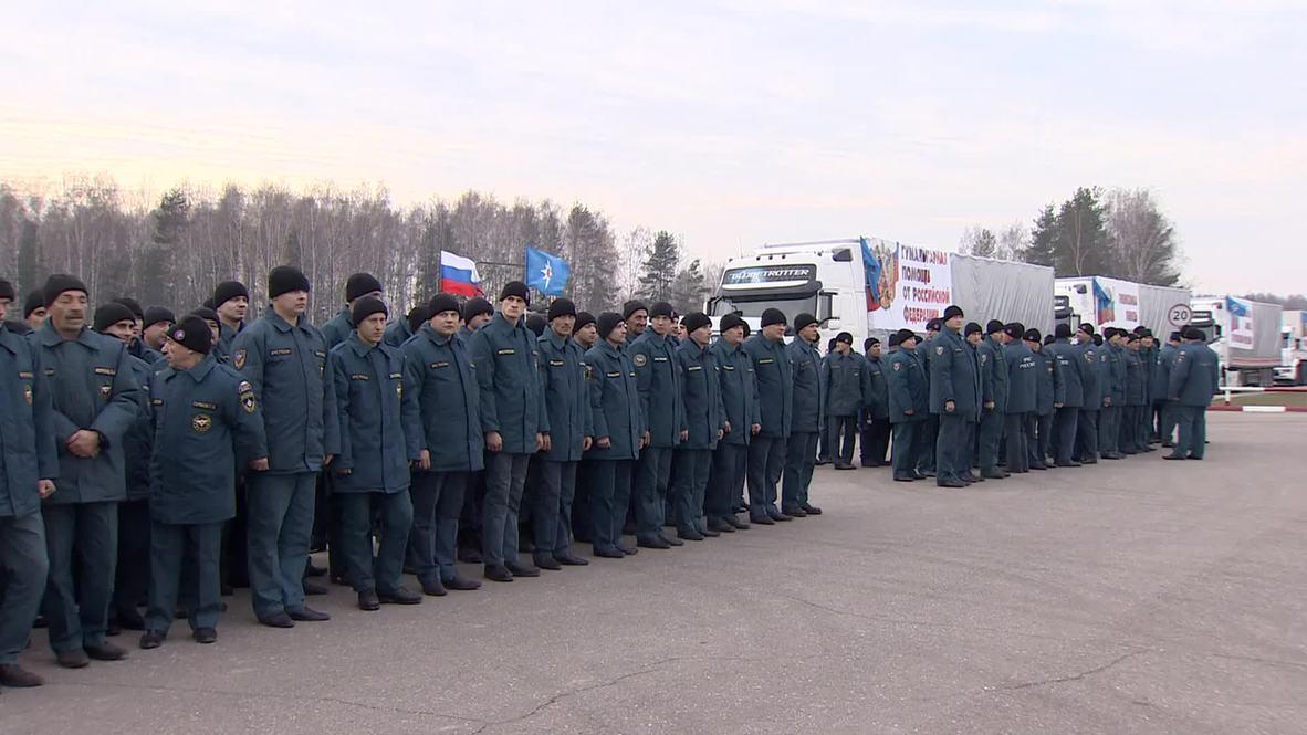 Russia: EMERCOM sends 4th humanitarian aid convoy to Donbass