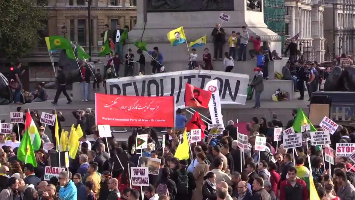 UK: Anti-IS demo dominates Trafalgar Square